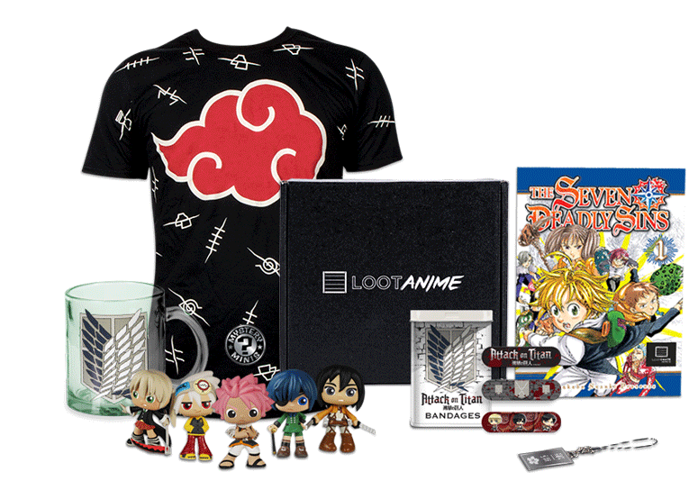 Anime crate sample contents